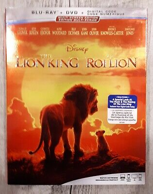 THE LION KING 2019 Disney  Blu-ray + DVD + Digital Code With Slip Cover sealed