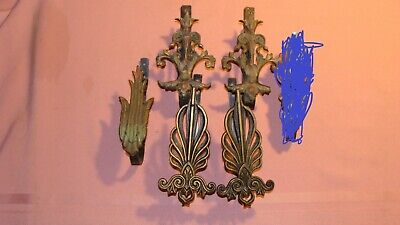 Vintage Ornate Victorian Curtain Pole Holders/Brackets Curtain Tie Backs