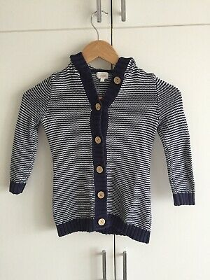 Seed Blue And White Cardigan Size 3 - 4 Jacket Winter