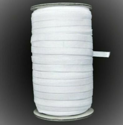 Skinny Thin Elastic 3/8 Inch Wholesale for Masks 20 Yards Each White small qty