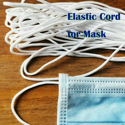 3mm Round Elastic Band Cord Crafts Ear Hanging DIY Mask Materials For Mouth Y7H6