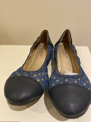 Walnut Katie  Denim Ballet Flat Size 34