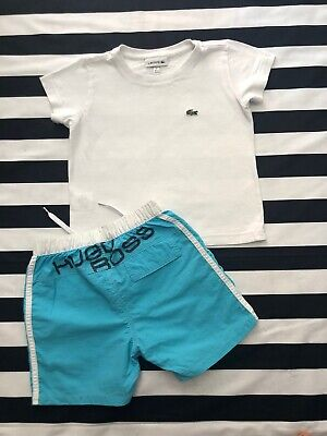 Lacoste And Hugo Boss Designer Outfit Set T-shirt Shorts Boys Age 3 Years 💙