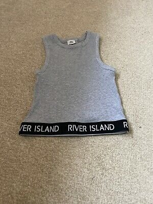 River Island Dance Crop Top Grey Worn Once 11/12 Yrs Check Out My Other Items