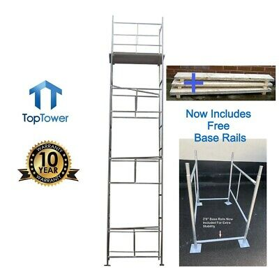 Scaffold Tower + Boards 7.2m 4x 2ft 6in Working Ht DIY Galvanised Steel Towers