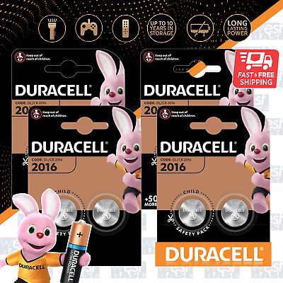 8x DURACELL DL2016 3V LITHIUM COIN Cell Batteries DURALOCK CR2016 BR2016 Exp+