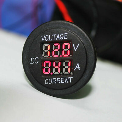 Digital LED Voltmeter Ammeter 12-24V Dual Volt Amp Meter for Car Motorcycle US