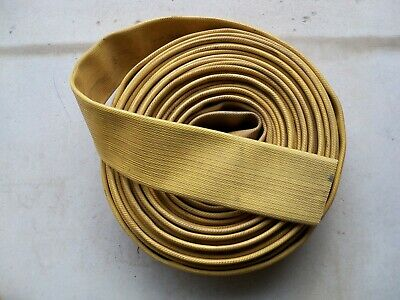 "Yellow Fire Hose - 5' Length x 6.5"" Flat - 4"" Dia - dock bumper chain cover"