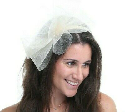 New Ladies Outdoor Occasion Wedding/Races Fascinator Style F3470 Ivory