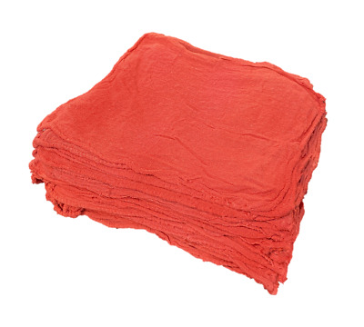 100 New Industrial Shop Rags Cleaning Towels Red Large 12x14 Towel Premium