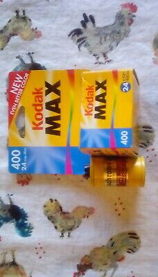 New Kodak Max Versatility 400 Film 24 Exposures 35mm Color 1 Roll Exp 08/2001