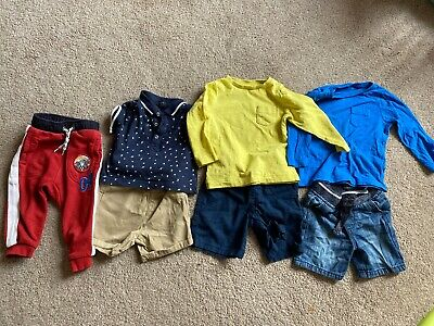 Baby Boys Clothes Outfits Bundle Spring Summer Next M&S Etc 9-12 Months