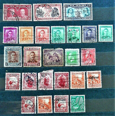 Lot Of 25 Old British Colony Stamps New Zealand , / Used