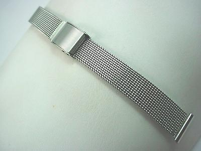 JB Champion 14mm Ladies Watch Band Vintage Stainless Steel Sliding Clasp NOS