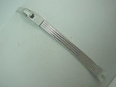 Ladies White Gold Filled 8mm Finesse Vintage Watch Band Butterfly Clasp NOS