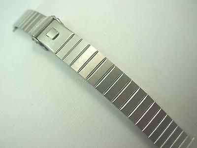 Ladies Vintage JB Champion Watch Band 14mm Stainless Steel Sliding Clasp NOS