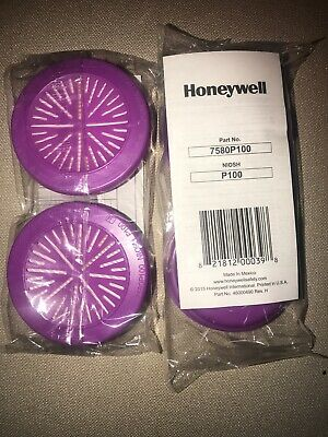 HONEYWELL NORTH  7580P100 -P100 Particulate Cartridge/Filter -2 pack (4 Filters)