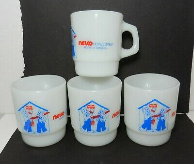 Lot of Vintage Fire King Advertising Mugs Nelco Home Centers Reading Hamburg PA