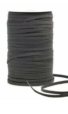 Skinny Thin Elastic 1/4 inch 6mm Wholesale for Masks 20 Yards Each in Black