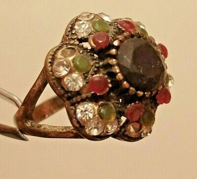 Stunning ANCIENT Medieval ROMAN BRONZE RING museum quality RING With Stones