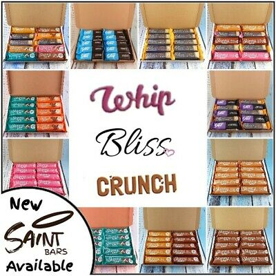 10 x Skinny whip bars, bliss, crunch mix, Mint, strawberry, chocolate, toffee,