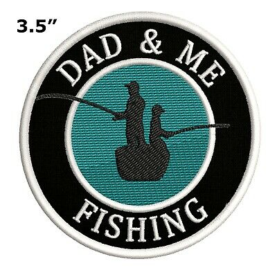 Patch Iron-On Family Fishing Dad and Son Fish Embroidered Applique