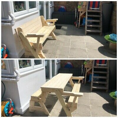 3 X Folding Picnic Table to Bench PDF PLANS ONLY. With/without Arms + Child's 🌈