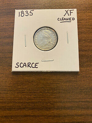 1835-P Capped Bust Silver Dime 10C EXTRA FINE (XF) Cleaned