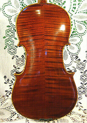 Lovely Old Antique Violin Strong Tone! Beautiful Tiger Flame 4/4 Crack Free! NR!