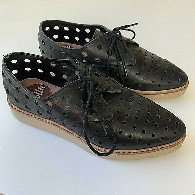Rollie Sz 36 City Punch Derby Black Leather Brogues Comfort Shoes Discontinued
