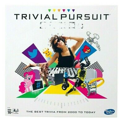Trivial Pursuit 2000s Edition Board Game - Hasbro Gaming Family Wedge - Open Box