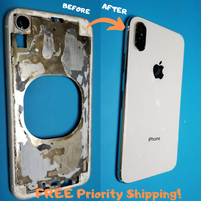 iPhone 8, 8 Plus, X, XS, XS Max, XR Laser Back Glass Replacement Repair Service