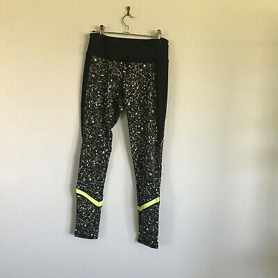 Cotton On Black and Green Gym Pants Size M Womens
