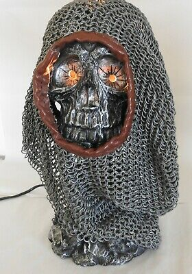Lamp, Skull with Chain Mail