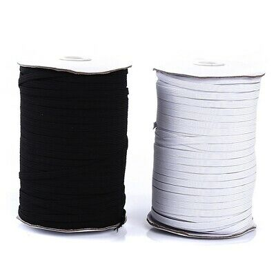 """Skinny Thin Elastic 1/4""""/6mm Wholesale for Masks 20 Yards Each in Black or White"""