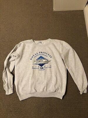 Vintage Grey Royal Princess Sweatshirt Jumper Medium M