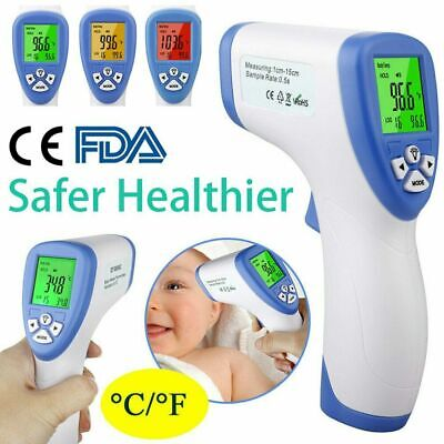 NEW LCD Digital IR Infrared Digital Forehead Fever Thermometer Non-Contact FDA