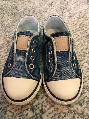 Next Infant Denim Look Slip On Sneakers - Size 4UK