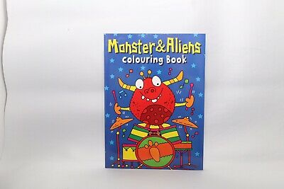 New - Monster And Aliens Colouring Book A4 - 56 Pages To Colour