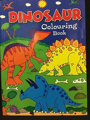 New - Dinosaurs -Colouring Book A4 - 56 Pages To Colour