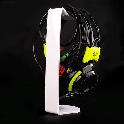 Universal Acrylic Headset Hanger Holder Desk Display Stand 250mm White Solid