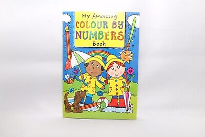 New - Colour By Numbers A4 - Blue Cover - 32 Pages - Great Fun