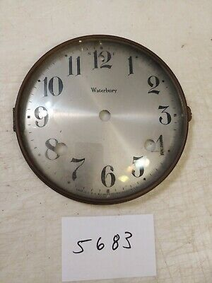 Antique Waterbury  Mantle Clock Dial & Bezel With Glass
