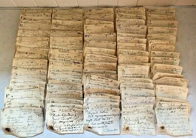Obsolete Pharmacy 1914 Handwritten Prescription Rx Lot Ephemera Apothecary Paper