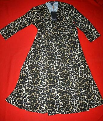 Isabella Oliver Lovely Leopard Animal Print Maternity Dress Size 4 UK 14 US 10