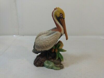 Vintage John James Audubon Porcelains Brown Pelican Figure Statue hd1974