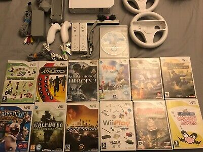 NINTENDO Wii BUNDLE 13 GAMES Wii PLAY MARIO KART BOYS FAMILY CONSOLE REMOTES #2