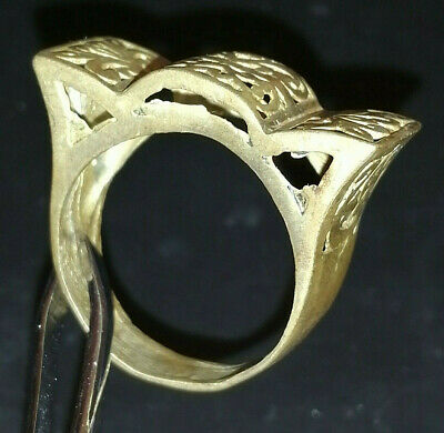 Stunning Extremely Rare Ancient Roman Old Ring Bronze Artifact Museum Quality