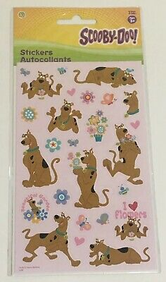 Scooby-Doo Stickers Sandylion Urban Nature New in Package 2 Sheets Flowers Pink