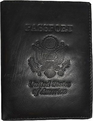 New Leather passport cover, Unbranded Billfold wallet credit card ID Bifold BN.
